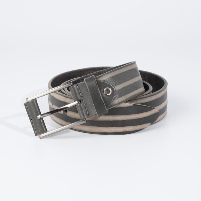 Ремень мужской, ширина 3,5 см, винт, пряжка металл, цвет серый - фото 774266