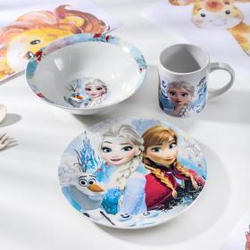 Набор посуды «Холодное сердце. Сёстры», 3 предмета