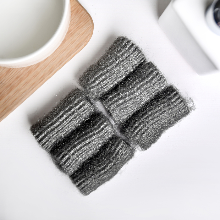 Набор губок для чистки посуды, 6 шт, 5 гр