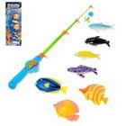 """Рыбалка """"Охота на рыбок"""": 7 рыбок, 1 удочка"""