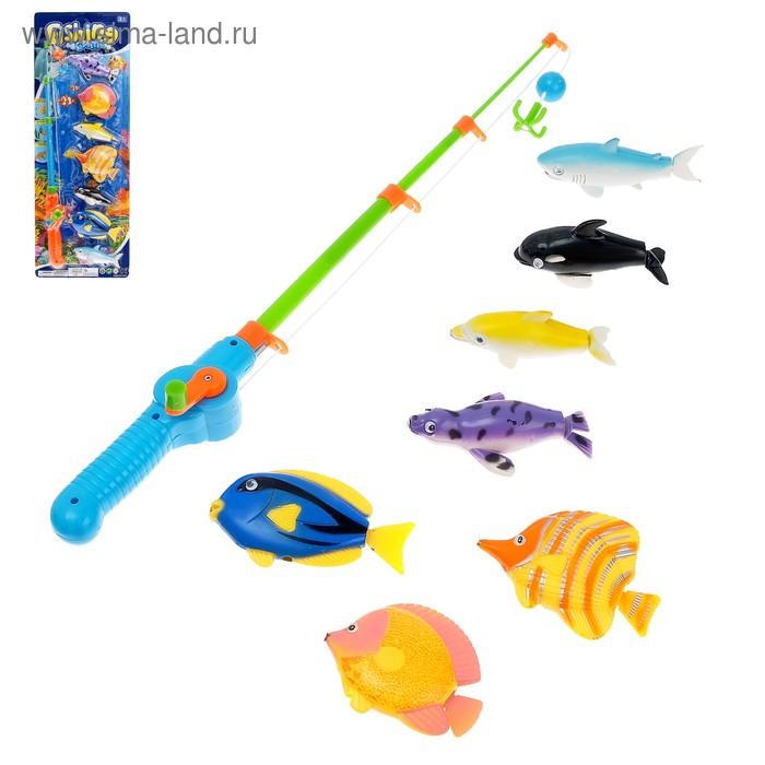 """Рыбалка """"Охота на рыбок"""", удочка, 7 игрушек"""