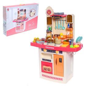"""Игровой набор """"Моя кухня"""" с аксессуарами, свет, звук, бежит вода из крана"""