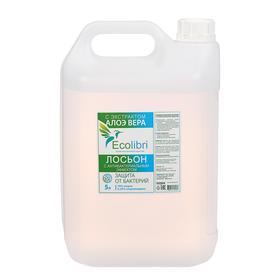 Антисептик для рук Ecolibri с антибактериальным эффектом, лосьон, 5 литров