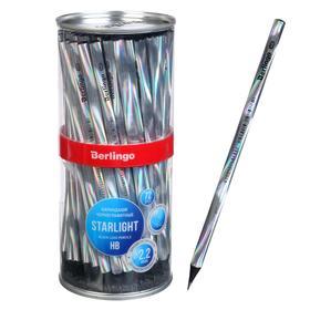 """Карандаш ч/г Berlingo """"Starlight"""" HB, черное дерево, трехгранный, заточен 257275"""