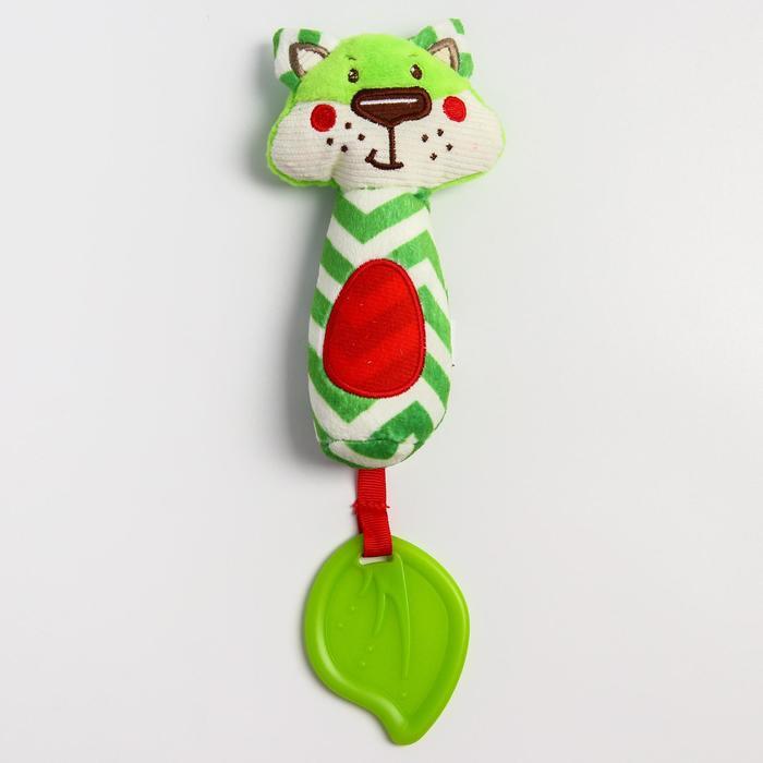 Развивающая игрушка «Лесные  друзья. Лисенок», с прорезывателем и пищалкой - фото 9214470
