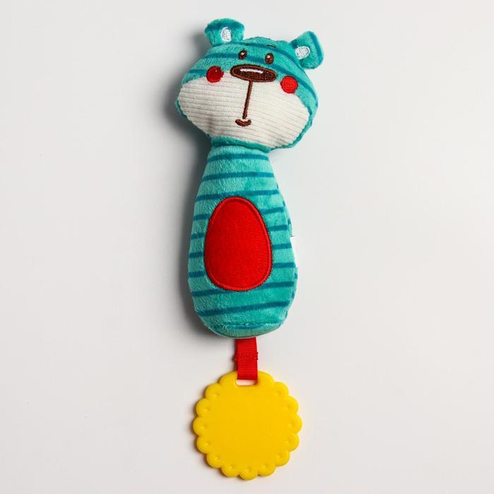 Развивающая игрушка «Лесные  друзья. Медвежонок», с прорезывателем и пищалкой - фото 9214477