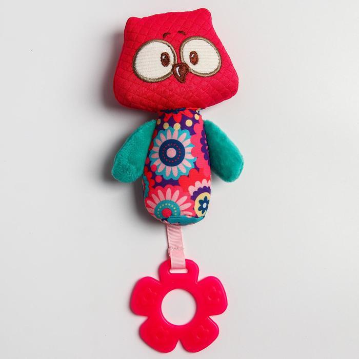 Развивающая игрушка «Лесные  друзья. Совенок», с прорезывателем и пищалкой - фото 9214484
