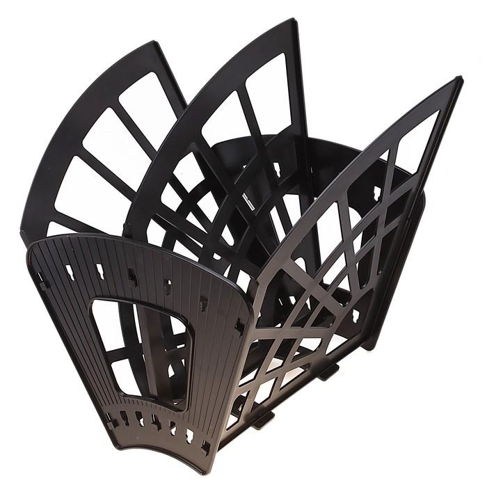 Лоток-веер 3 секции, 2 отделения, «Эконом», чёрный