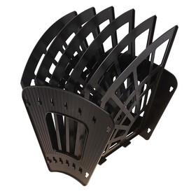 Лоток-веер 6 секций, 5 отделений, «Эконом», чёрный