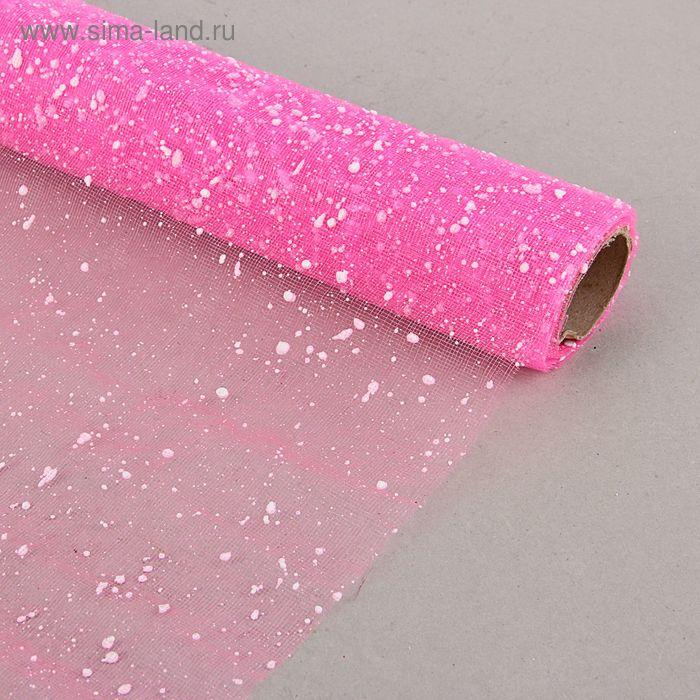 """Сетка для цветов """"Снег"""" розовая 52 см х 4 м"""