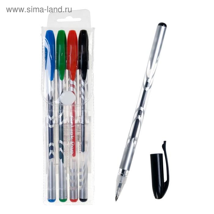 Набор гелевых ручек 4цв (синий, черный, красный, зеленый)
