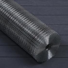 Сетка оцинкованная, сварная, 1,2 × 10 м, ячейка 12,5 × 12,5 мм, d = 1 мм, металл
