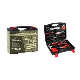 Набор инструментов в кейсе TUNDRA, подарочная упаковка, универсальный, 46 предметов