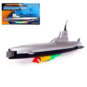 Лодка «Субмарина», плавает, работает от батареек