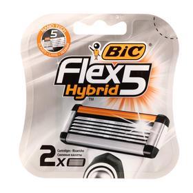 Сменные кассеты BIC 5 FLEX  HYBRID 5 лезвий, 2 шт.