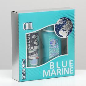 Подарочный набор Blue Marine Cool шампунь 250 мл + пена для бритья 200 мл