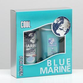 Подарочный набор Blue Marine Cool гель для душа 250 мл + пена для бритья 200 мл