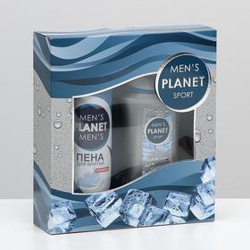 Подарочный набор Men's Planet Sport шампунь 250 мл + пена для бритья 200 мл