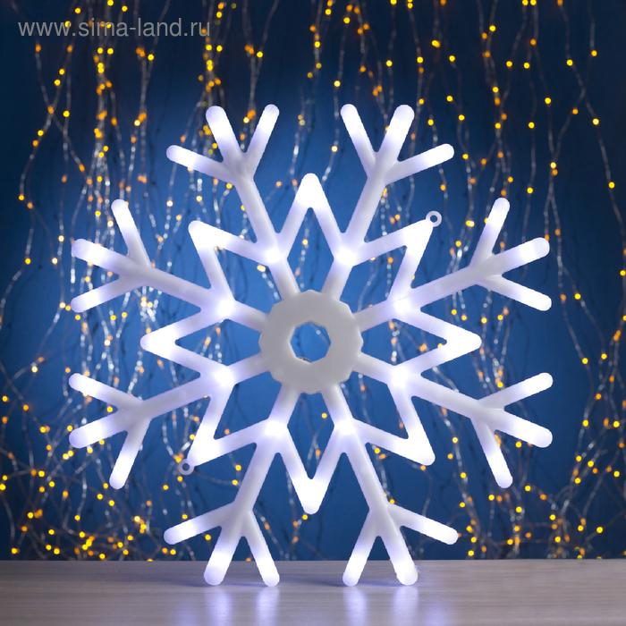 """Фигура """"Снежинка"""" d-40 см, 30 LED, 220V, контрол. 8р. БЕЛЫЙ"""