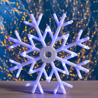 "Фигура ""Снежинка"" d-40 см, 30 LED, 220V, контрол. 8р. СИНИЙ"