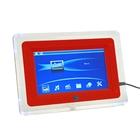Цифровая фоторамка SD/USB, поддержка JPEG, MP3, MP4, AVI с пультом ДУ, красная