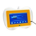 Цифровая фоторамка SD/USB, поддержка JPEG, MP3, MP4, AVI с пультом ДУ, желтая