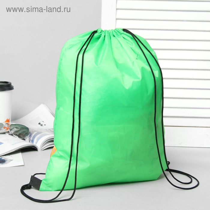 Мешок для обуви на стяжке шнурком, зеленый