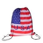 """Мешок для обуви на стяжке шнурком """"Флаг USA"""", цвет красный/белый/синий"""