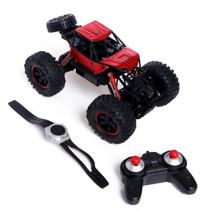 Машина радиоуправляемая «Джип-акробат», 4WD, управление жестами, работает от аккумулятора, МИКС - фото 1067803