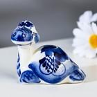 """Souvenir """"Turtle with a long neck"""", 6 cm, Gzhel"""