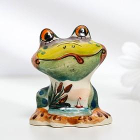 Сувенир «Лягушка Ква», 5 см, гжель в Донецке