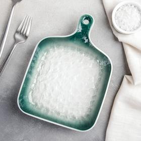 {{photo.Alt || photo.Description || 'Блюдо для подачи Доляна «Туманность», 23×16,6×3,5 см, цвет зелёный'}}