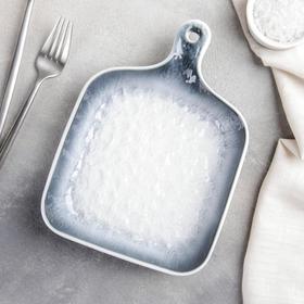 {{photo.Alt || photo.Description || 'Блюдо для подачи Доляна «Туманность», 23×16,6×3,5 см, цвет синий'}}