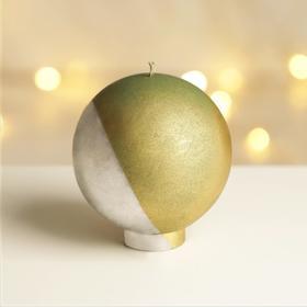 """Свеча интерьерная  шар """"Золото и серебро"""", диам. 10 см."""
