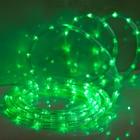 LED шнур 13 мм, круглый, 5 м, чейзинг, LED-24-220V, с контролл. 8р, зеленый
