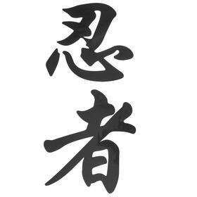 Термонаклейка «Иероглиф ниндзя», 14 х 29 см, набор 10 шт.