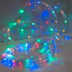 LED шнур 13 мм, круглый, 20 м, чейзинг, 2W-LED/м-24-220V, с контролл. 8р, мульти