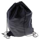 Рюкзак-мешок для обуви, шнурок, цвет чёрный