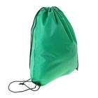 Рюкзак-мешок для обуви, шнурок, цвет зелёный