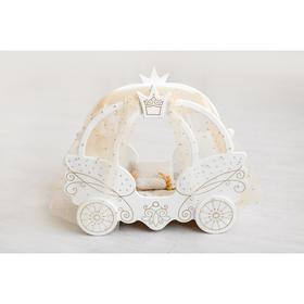 Игрушка детская кровать из коллекции «Shining Crown» цвет белоснежный шёлк