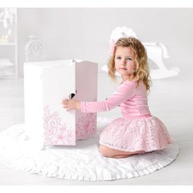Игрушка детская: шкаф с дизайнерским цветочным принтом (коллекция «Diamond princess» белый)