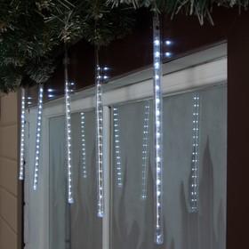 """Светодиодная сосулька уличная """"Тающая"""" 0,3 м, d=2 см, вилка, LED-18-220V, нить белая, свечение белое в Донецке"""