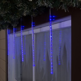 """Светодиодная сосулька уличная """"Тающая"""" 0,3 м, d=2 см, вилка, LED-18-220V, нить белая, свечение синее в Донецке"""