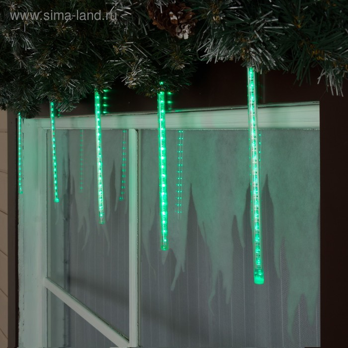 """Светодиодная сосулька """"Тающая"""" 0,3 м, d=2 см. LED-18-220V ЗЕЛЕНЫЙ"""