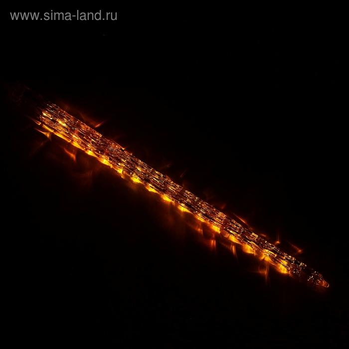 """Светодиодная сосулька """"Рифленая"""" 0,5 м, d=4см. LED-30-220V, ЖЕЛТАЯ"""