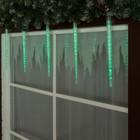 "Светодиодная сосулька ""Рифленая"" 0,5 м, d=4см. УМС-вилка LED-30-220V ЗЕЛЕНЫЙ"