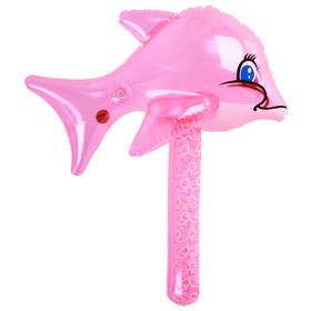 Игрушка надувная со звуком, молоток «Дельфин», 40 см