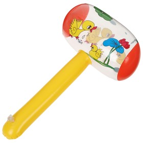 Игрушка надувная со звуком «Молоток» 30 см, цвета МИКС