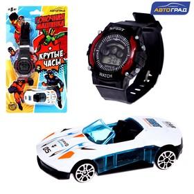Машинка с часами, супергерои, МИКС