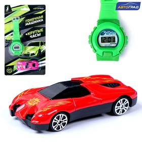 Машинка с часами, гонки, МИКС